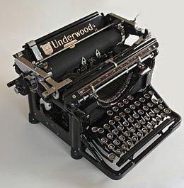Машинка печатная Underwood