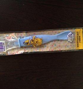 Новая ложка для кормления с силик. наконечником