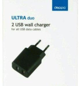 Продам зарядку Deppa Ultra USB 2.1 А черный