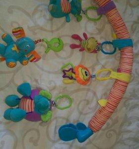Дуга для коляски/кроватки и 2-е игрушки подвисные