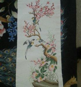 Вышивка крестом японский стиль