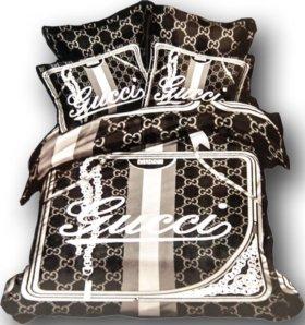 Комплект Gucci постельное бельё (евро-размер)