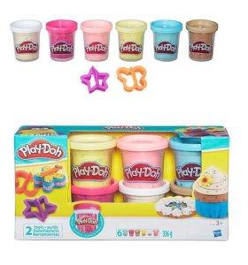 Наборы пластилинов Play-Doh с конфетти и 2 формами