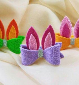 Яркие резиночки с ушками