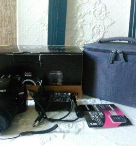 Фотоаппарат зерк. NIKON3200 kit 18-55 ll Black