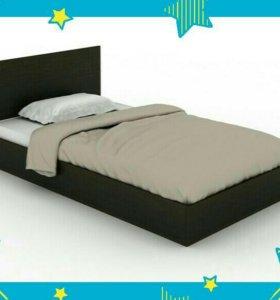 Новая кровать, с матрасом, 90^200