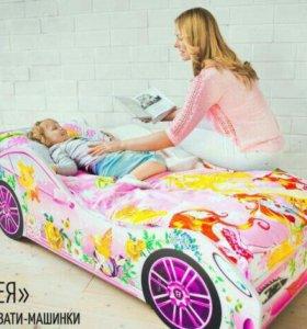 Кровать-машинка + матрас