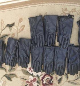 Перчатки искусственная кожа