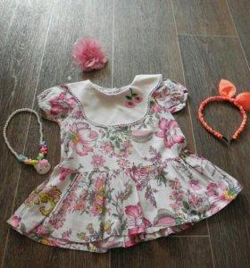 Красивое детское платье Р. 74-80.
