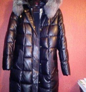 Куртка кожаная зимняя очень теплая