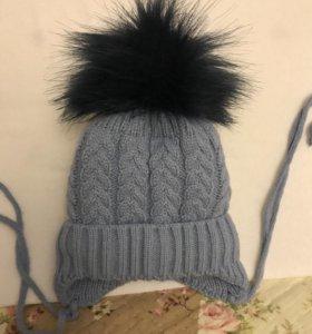 Теплая зимняя шапочка для самых маленьких