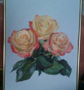 Картина. Цветы «Букет роз»