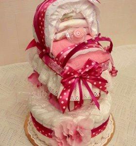 Торт фигуры из памперсов