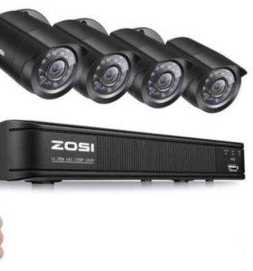 Система видеонаблюдения ZOSI (ресивер +4 камеры)