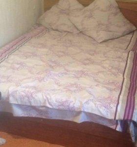 Шкаф и кровать двуспальная