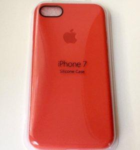 iphone 7 чехол Apple Red Красный силикон в упаковк