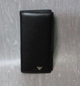 Armani кошелёк портмоне кожа