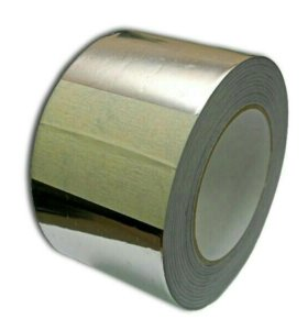 Скотч алюминиевый 100 мм х 25 м