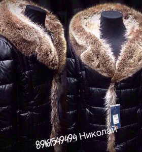 Мужские зимние кожаные куртки и пуховики с мехом