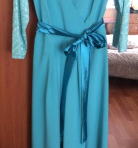 Платье в пол не б/у 46 размер