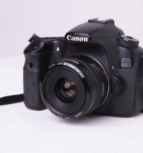 Зеркальная фотокамера Canon 60D+Canon 35mm f2.0