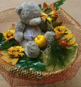 Букет из плюшевых медвежат твой незабываемый подар
