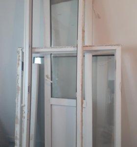 Окна балконные дверями