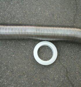 Труба гофрированная d130 с металическим фланцем