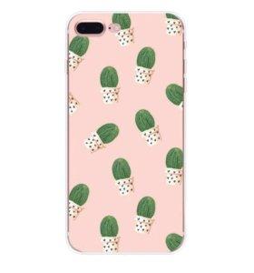Чехол с кактусами новый (iPhone 6 или 6s)