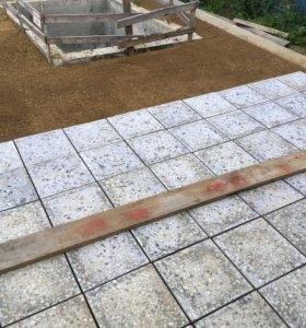 Плитка бетонно-мозаичная армированная 400х400х35