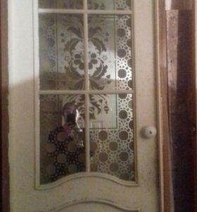 Дверь межкомнатная с коробкой на 80