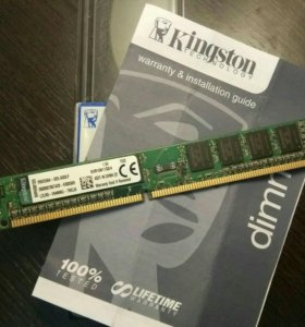 Планка Kingston DDR3 на 4GB, 1600 МГц