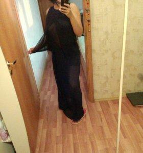 Костюм юбка и топ шифон