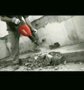Отбойником ломаем бетоны