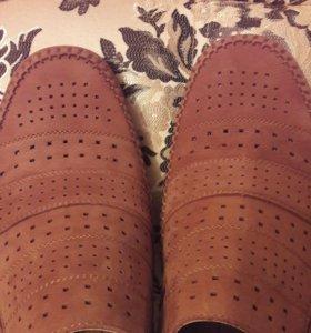 Мокасины/туфли/полуботинки из натуральной кожи