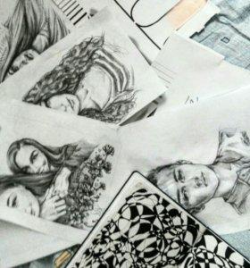 Портрет в простом карандаше