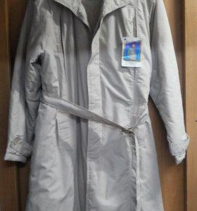 Стильное мужское демисезонное пальто