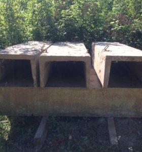 Железобетонные желобки в канаву под дорогу