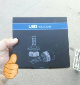 LED hradlight, 8000 lm, 6500k, H4