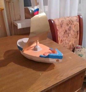 Кораблик декоративный самодельный
