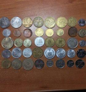 Набор 40 монет из 16 стран (без повторов)