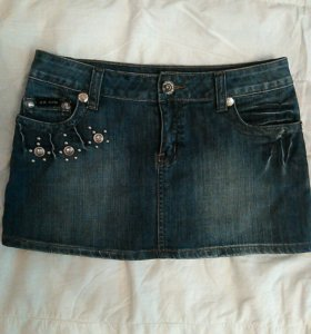 Юбка джинсовая р46