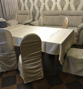 Столы и стулья на прокат