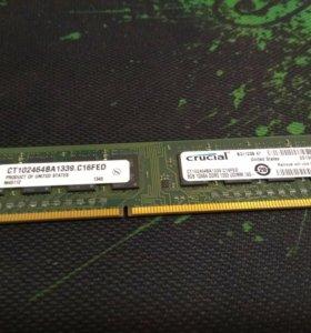 Оперативная память Crucial 8GB DDR3