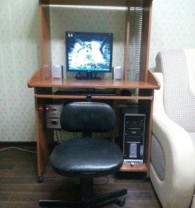 Стол компьютерный - школьный (стул в подарок)