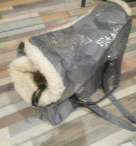 DOGMAN сумка-переноска для собак и кошек зимняя