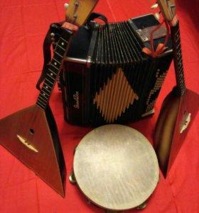 Инструменты музыкальные народные
