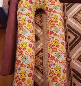 Био-подушка для беременных U maxi + чехол с совами