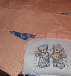 Нежные бортики в кроватку