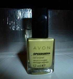 "Лак для ногтей AVON ""SPEED DRY+"" lime splatter"